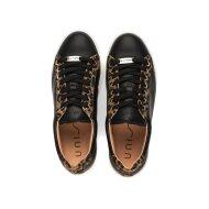 Unisa - Unisa Franci sort Sneaker med leopard print