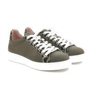 Unisa - Unisa Franci army grøn sneaker med leopard print