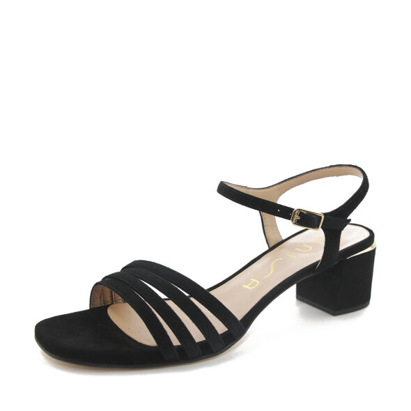 Unisa - Unisa Koizel sort dame sandal i ruskind
