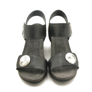 Cashott - Cashott 8020 mat sort dame sandal med kilehæl