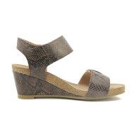 Cashott - Cashott 8020 brun dame sandal med kilehæl
