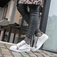 Unisa - Unisa Franci Beige Sneaker med leopard print