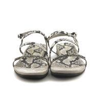 Unisa - Unisa Angola dame sandal med snake print og swarovski sten