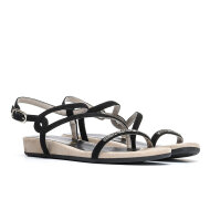 Unisa - Unisa Angola sort dame sandal med swarovski sten