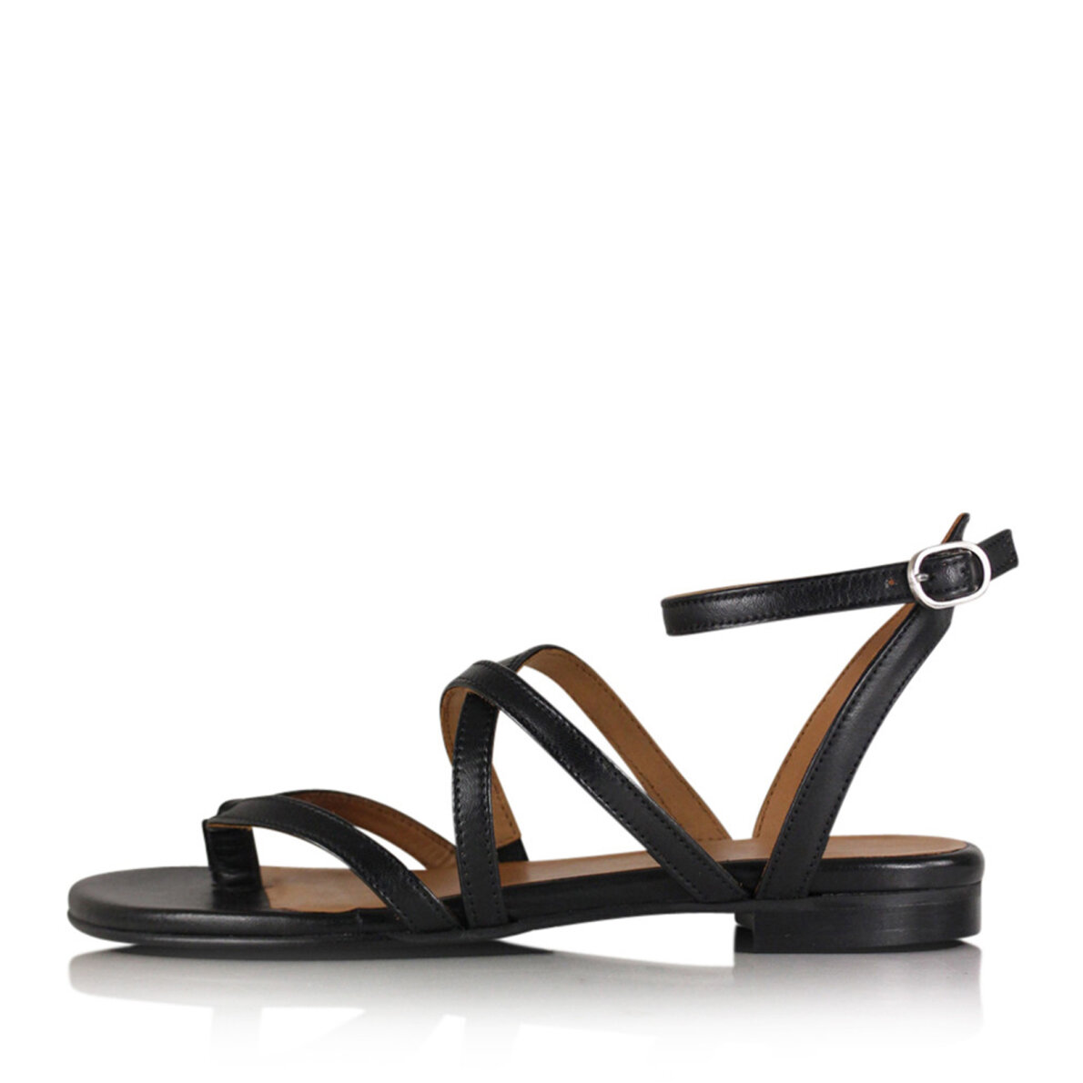 62b00b6722eb Billi Bi - Billi Bi 8706 sort dame sandal med krydsende remme ...