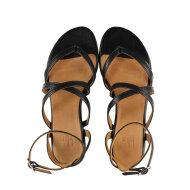 Billi Bi - Billi Bi 8706 sort dame sandal med krydsende remme