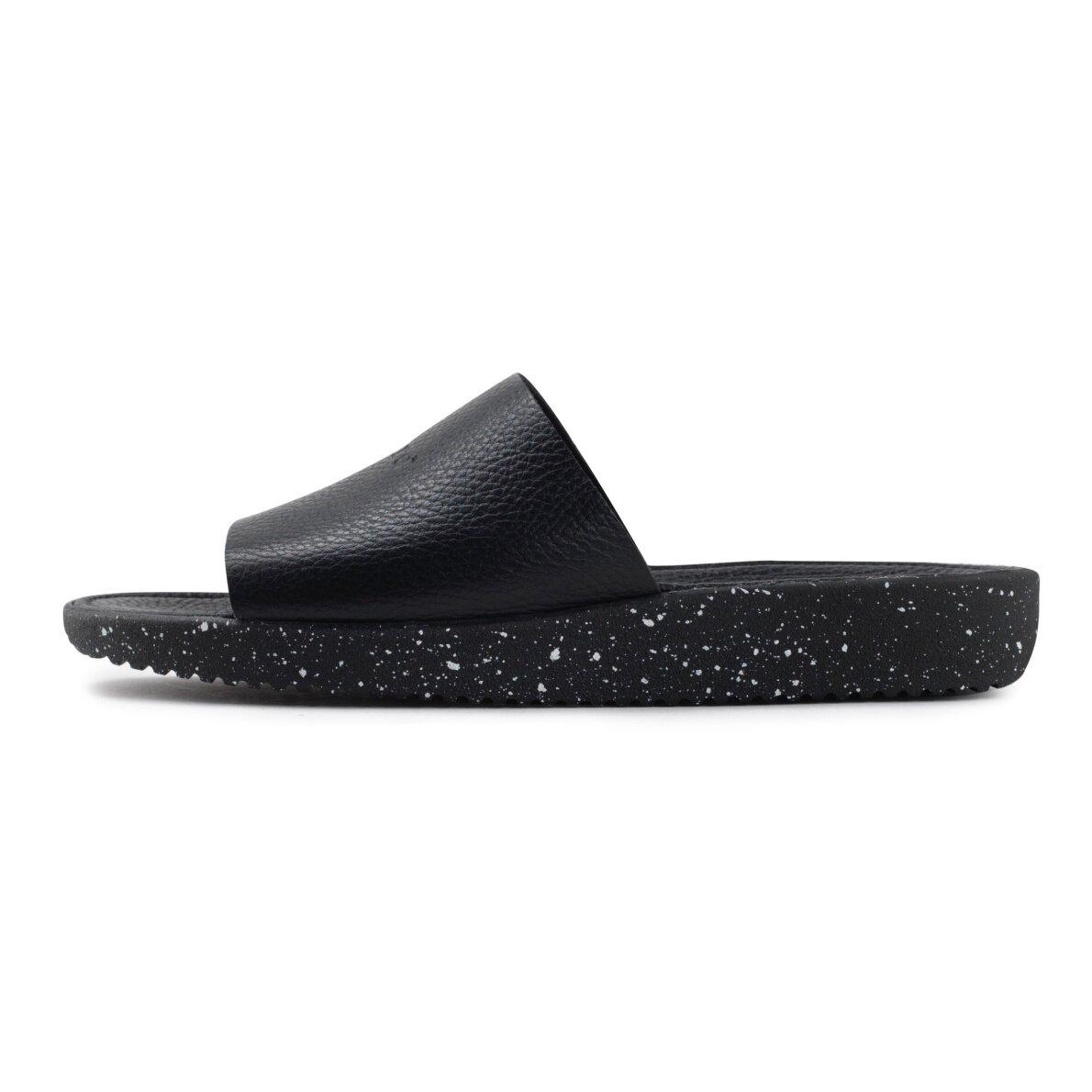 PIEDI Nature Dagmar Black Dame slip in sandal i sort