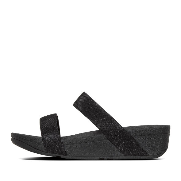 Fitflop - Fitflop Lottie Glitzy Slides sort dame slip in sandal