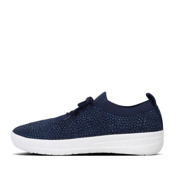 Fitflop - Fitflop Überknit Crystal navy dame sneaker