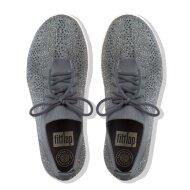 Fitflop - Fitflop Überknit Crystal grå dame sneaker