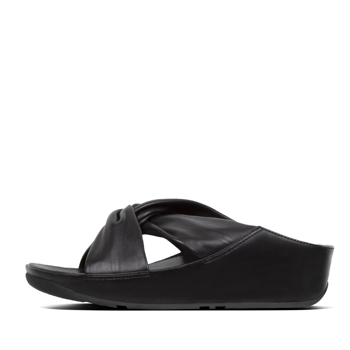 5962c74af1fd Fitflop - Fitflop Twiss Leather Slides sort dame slip in sandal ...