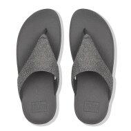 Fitflop - Fitflop Lottie Glitzy Pewter grå dame slip in sandal