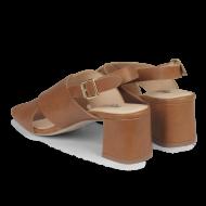 Angulus - Angulus 5568 brun damesandal med blokhæl