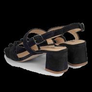 Angulus - Angulus 5569-101 sort sandal med blokhæl