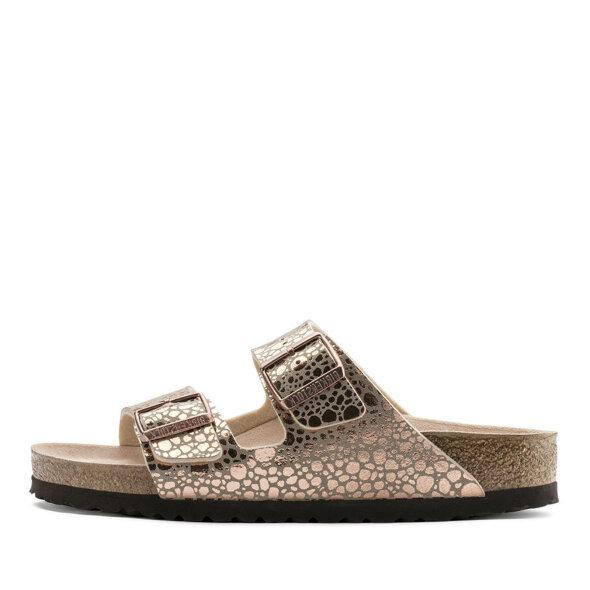 Birkenstock - Birkenstock Arizona Metallic Stones Copper dame sandal