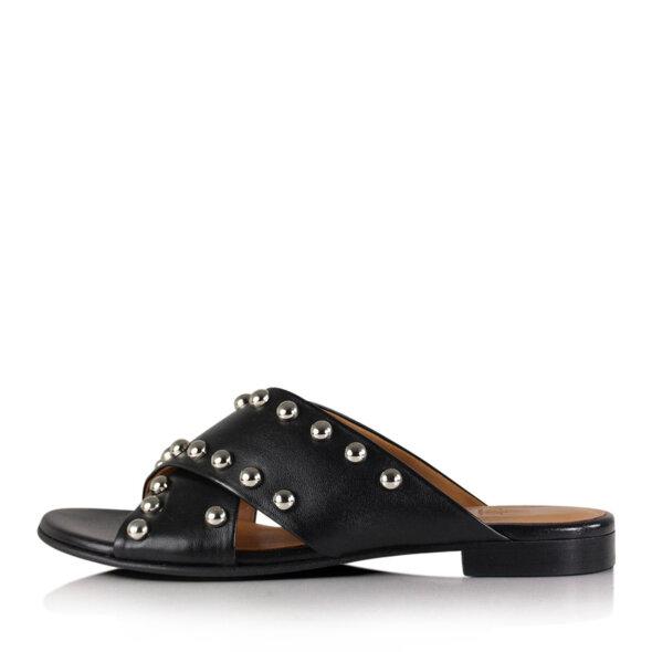 Billi Bi - Billi Bi 8628 sort slip in dame sandal