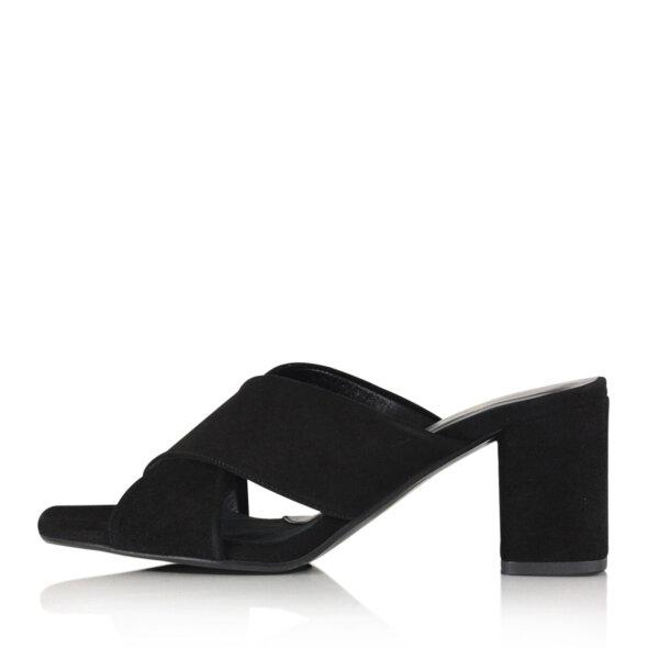 Billi Bi - Billi Bi 8111 sort dame sandal med høj hæl