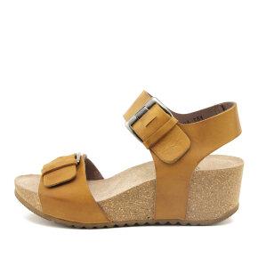 Lofina - Lofina E5-194 gul dame sandal med kilehæl