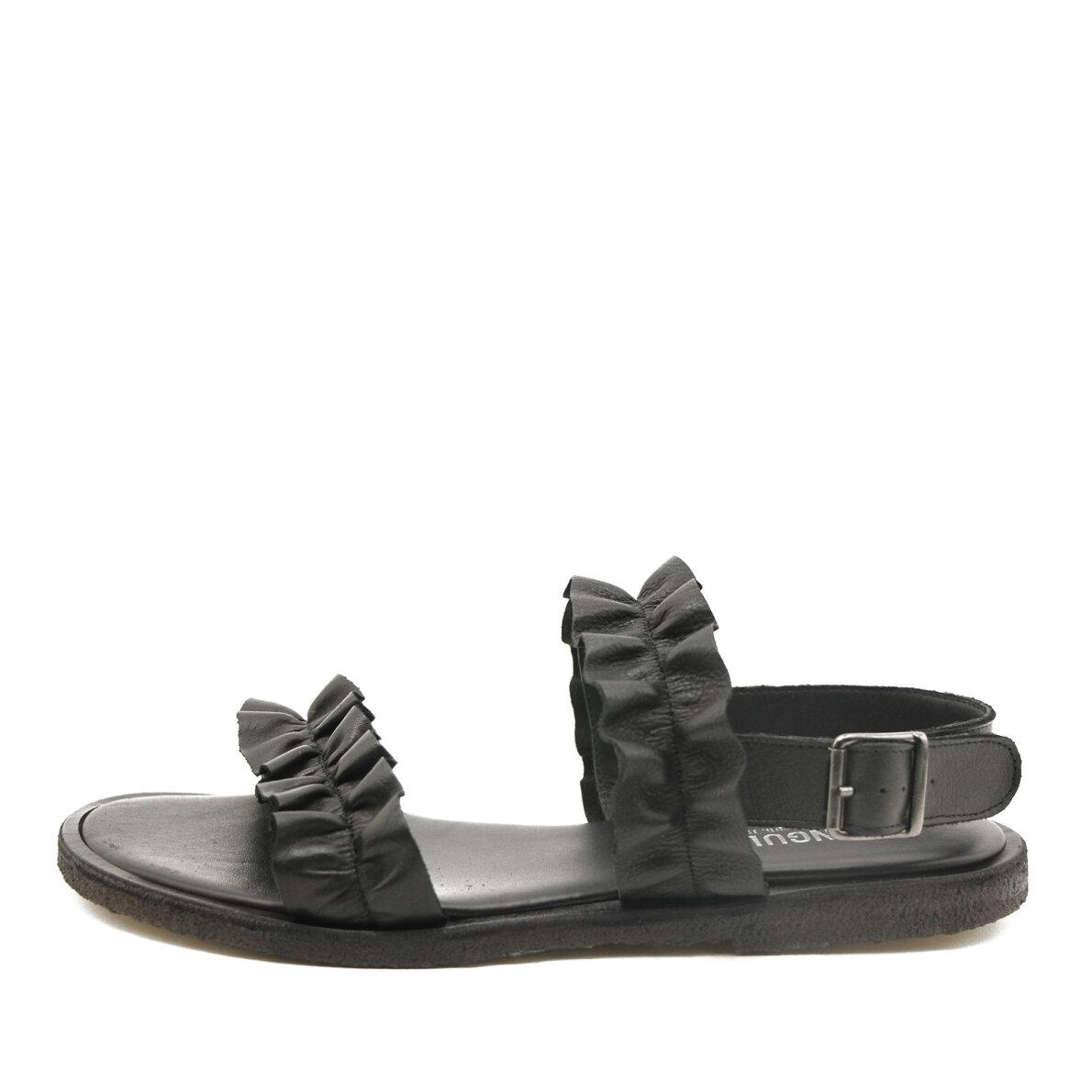 a190e4e98d9e Angulus - Angulus 5558 sort dame sandal med flæser ...