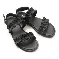 Angulus - Angulus 5558 sort dame sandal med flæser