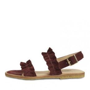 Angulus - Angulus 5558 bordeaux dame sandal med flæser