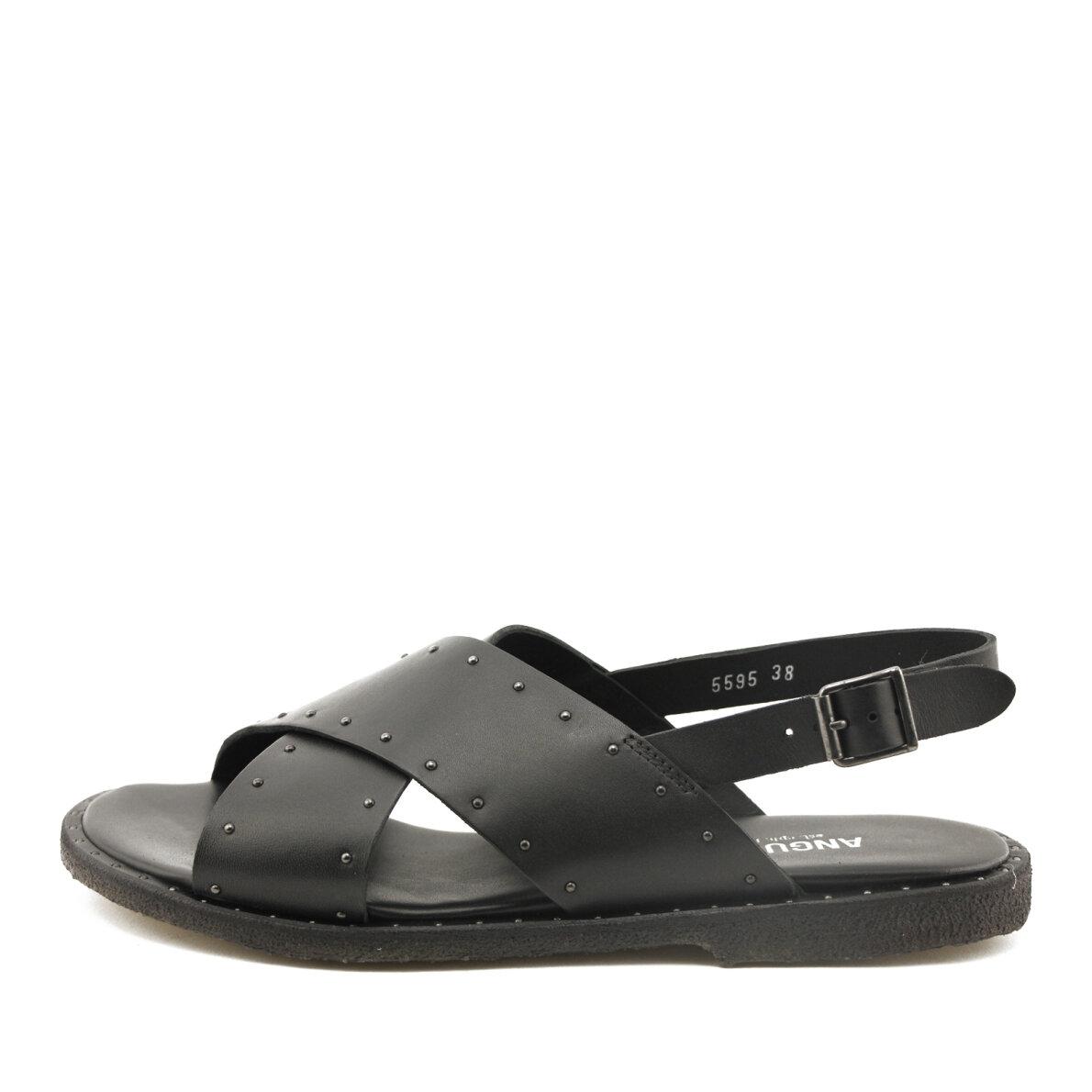 d9223b9872f2 Angulus - Angulus 5595 sort dame sandal med nitter ...