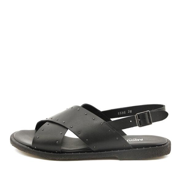 Angulus - Angulus 5595 sort dame sandal med nitter