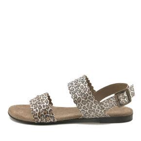 Cashott - Cashott 19076 dame sandal med leopard print