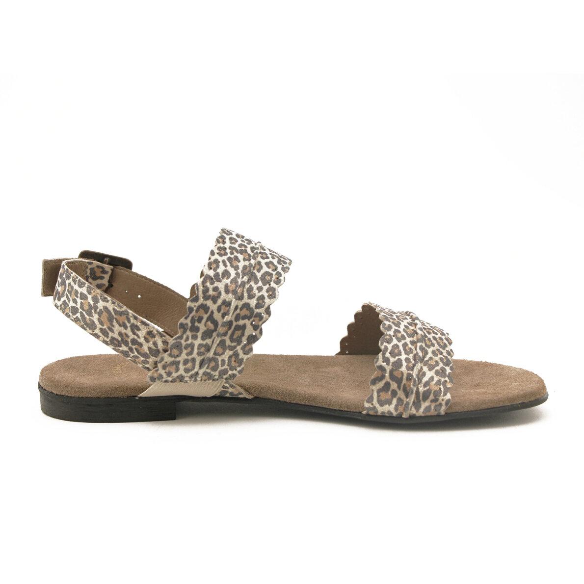 c3450641 ... Cashott - Cashott 19076 dame sandal med leopard print ...