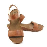 Cashott - Cashott 19030 brun dame sandal med velcro