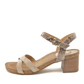 Cashott - Cashott 21062 beige dame sandal med høj hæl