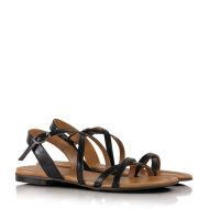 Billi Bi - Billi Bi 4920 sort dame sandal med krydsremme