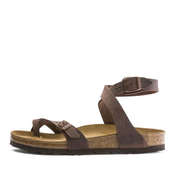 Birkenstock - Birkenstock Yara Habana brun dame sandal med ankelrem