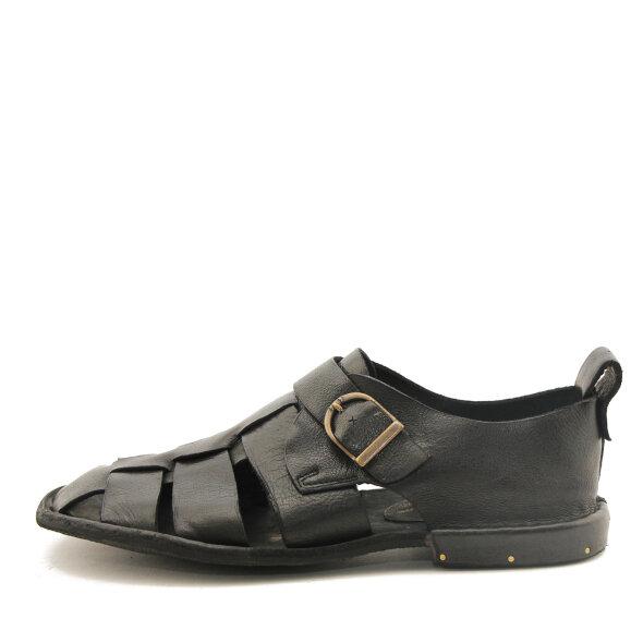Bubetti - Bubetti 3554 Lux Nero sort damesandal med hælkappe