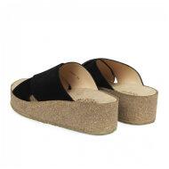 Angulus - Angulus 5601-101 sort damesandal med blød fodseng