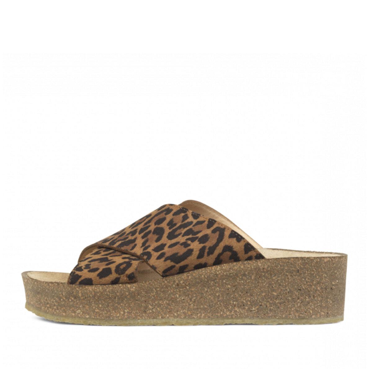 daf2848cb51e Angulus - Angulus 5601-101 leopard damesandal med blød fodseng ...
