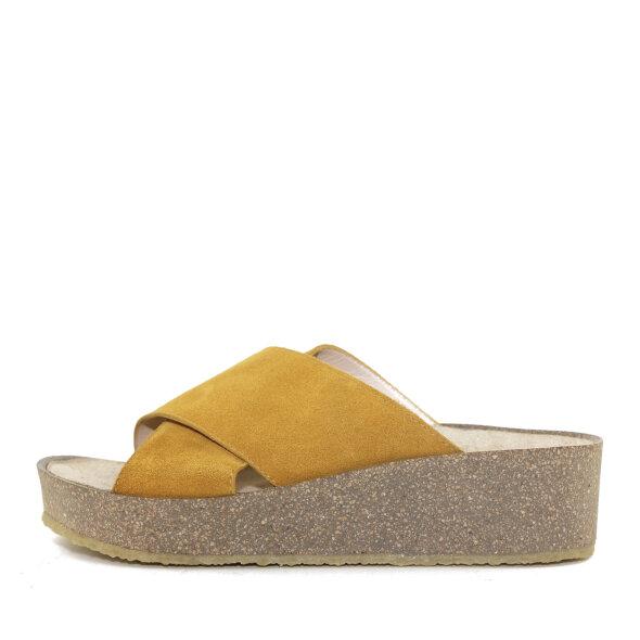 Angulus - Angulus 5601-101 gul damesandal med blød fodseng
