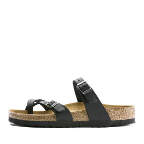 Birkenstock - Birkenstock Mayari Oiled Leather Sort Damesandal