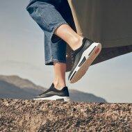 Fitflop - Fitflop Freya sort sneaker i ruskind