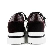 DL Sport - DL Sport 4511 Bordeaux Dame Sneaker i skind
