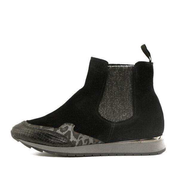 DL Sport - DL Sport 4435 Sort Chelsea støvle med sneakersål