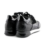 DL Sport - DL Sport 4439 Sort Dame Sneaker i skind