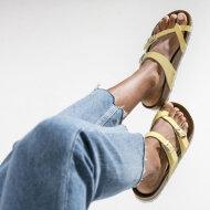 Birkenstock - Birkenstock Mayari Brushed vanilla Gul dame sandal