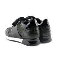 DL Sport - DL Sport 4439 Grøn Dame Sneaker i skind