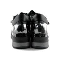 DL Sport - DL Sport 4480 Sort Dame Sneaker med Slangeprint