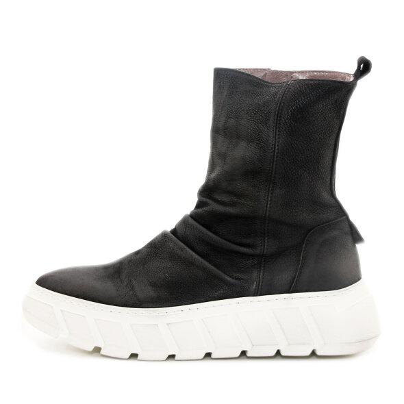 Lofina - Lofina I9-647 sort damestøvle med hvid sål