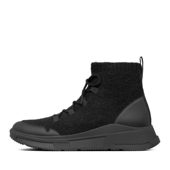 Fitflop - Fitflop Comffknit Sock Sort Sneaker i Uld