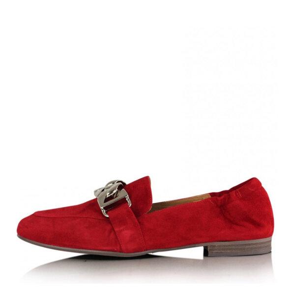 Billi Bi - Billi Bi 6522 Rød Loafer i ruskind