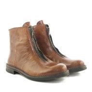 Bubetti - Bubetti 9891 cognac damestøvle med lynlås fortil