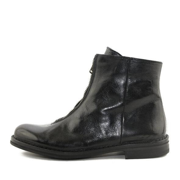 Bubetti - Bubetti 9891 sort damestøvle med lynlås fortil